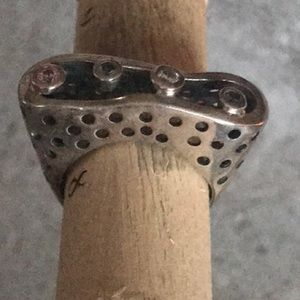 Artisan Silver 925 and gentle pastel CZ Ring